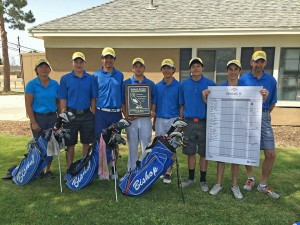 Bishop Union High School Men's Golf Team Wins CIF Central Section Championship - May 2014. Go Broncos!