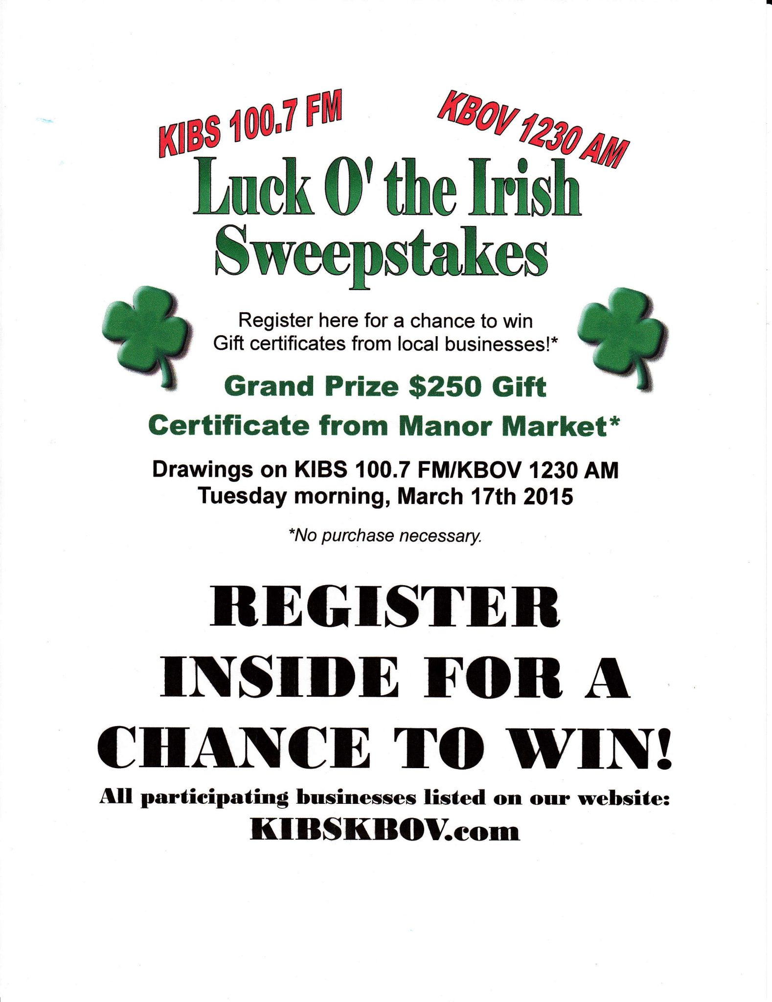 Luck O' The Irish Store Sign