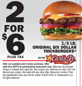 Carl's Coupon