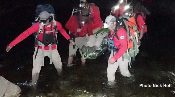 Search And Rescue aids backpacker