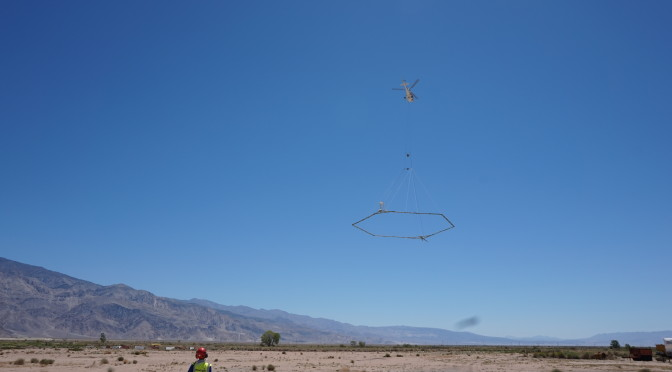 Owens Lake Helicopter