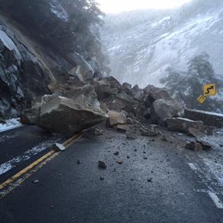 Highway 140 Rockfall