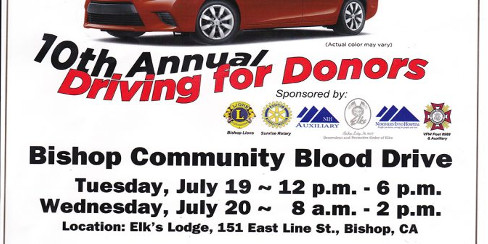 10th ANNUAL DRIVING FOR DONORS BLOOD DRIVE