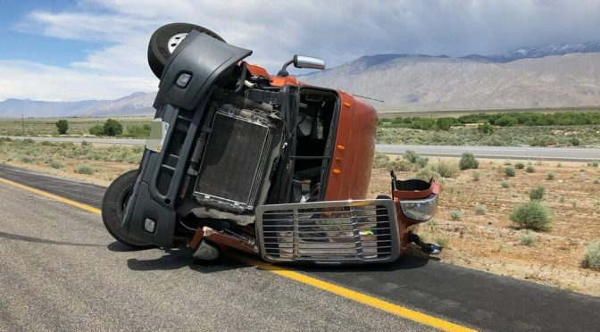 High Winds Rip Down Trees and Turnover Semi-Truck