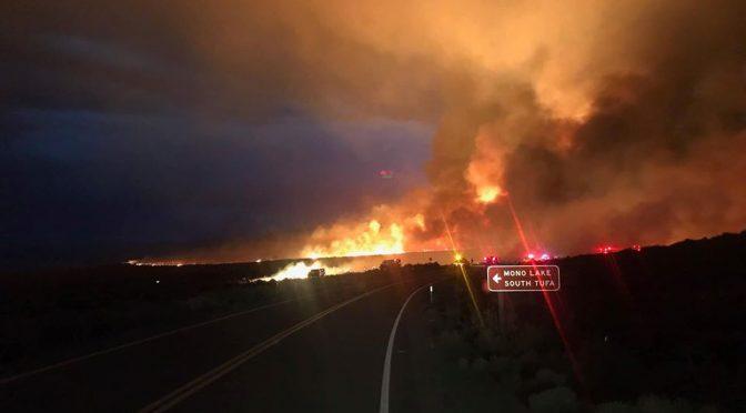 Fire Crews Respond to the Beach Fire