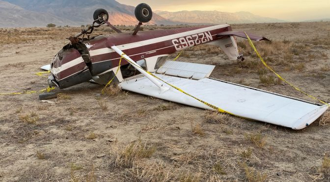 PLANE CRASH AT BISHOP AIRPORT