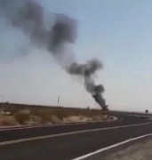 F-18 CRASHES IN INYOKERN