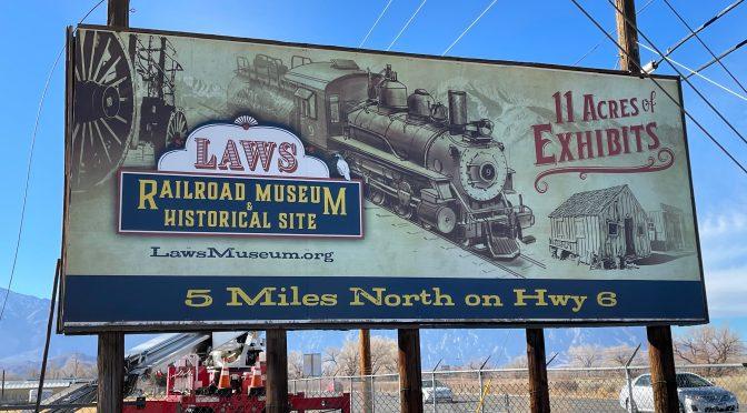 LAWS RAILROAD MUSEUM INSTALLS NEW SIGN