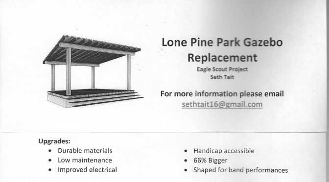 Future Eagle Scout to Rebuild Lone Pine Gazebo
